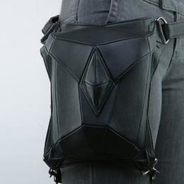 Estilo punk legging online-Rock cuero Vintage Unisex gótico Steampunk bolso paquete de la cintura estilo punk bolso de la pierna regalo de Navidad libre DHL G217S