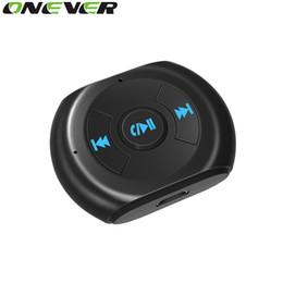 мобильные телефоны bluetooth для автомобильных комплектов Скидка Onever 3.5 mm Jack Bluetooth Car Kit автомобиль Беспроводной Bluetooth 4.0 AUX аудио музыкальный приемник адаптер с микрофоном для мобильного телефона