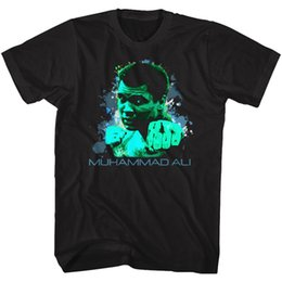 f6c253bf7a1 Muhammad Ali Tall T-Shirt Green Punch Splatter Black Tee Tee Shirt Men Male  Costume Short Sleeve Thanksgiving Day Custom Big Size Men s
