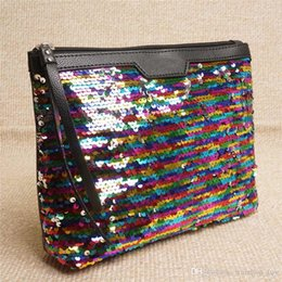 Wholesale metal accessories for bags - Fashion Sequins Storage Bag For Women Makeup Cosmetic Mermaid Clutch Handbag Tote Home Coins Organization Storage TY7-301