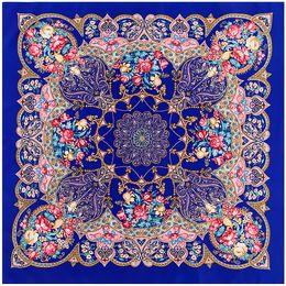 100x100 cm Lenço De Seda lenço lenço de seda geometria padrão Decorativo Xaile Turbante Lenço Quadrado Grande Mulheres lenço Senhora lenços C18110801 de Fornecedores de shemagh tactical military scarf wholesale