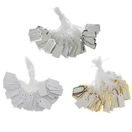 Cordões para jóias on-line-Etiquetas de preço de cabo de corda de jóias Impressão personalizada Acessórios de exposição de prata de rótulo em branco de jóias de ouro