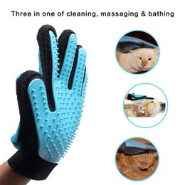 Wholesale Deshedding Tool Dog - Gentle Deshedding Brush Glove Efficient Pet Hair Remover Mitt Massage Tool Best Hair Remover for Long Short Hair Dogs Cats