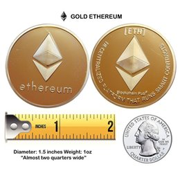 Wholesale Collectibles Antiques - Silver Ethereum Coin Replica Art Collection Gift Physical Metal Antique Imitation Non-currency Copy Coins Collectibles