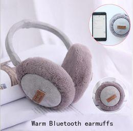 Canada 2018New Fashion Casque Bluetooth sans fil Casque Musique Réchauffer l'oreille cheap earmuff headset Offre