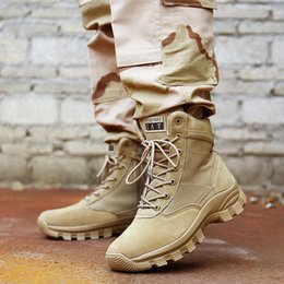 Wholesale high ankle sneakers for men - Men High Top Waterproof Hiking Boots Combat Shoes for Men Cow Leather Suede Athletic Trekking Sports Snow Boot Outdoor Walking Sneakers 45