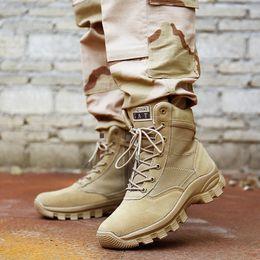 Wholesale work boots for men waterproof - Men High Top Waterproof Hiking Boots Combat Shoes for Men Cow Leather Suede Athletic Trekking Sports Snow Boot Outdoor Walking Sneakers 45