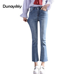 2019 Spring Summer New Womens Cowboy Pants Heavy Industry Hot Drill Striped Jeans Female Loose Nine Points Jean Harlan Pants Women's Clothing