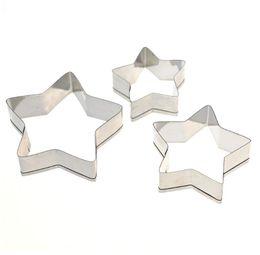 Durable en utilisation 3pcs / set moule à biscuits en forme d'étoile à cinq branches moule en acier inoxydable bricolage moule outils de cuisson uniquement moule free ship ? partir de fabricateur