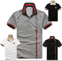 2019 patchs étoiles blanches Nouveau polo hommes broderie mode manches courtes été coton marque t shirt hommes de haute qualité tee camisetas hombre