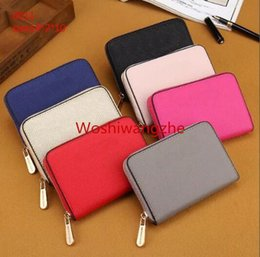 Clássico da moda pequena carteira Coin Purse MICHAEL KEN carteira das mulheres único zíper carteiras femininas bolsa de couro pu 0011 de Fornecedores de telefone cor de rosa velho