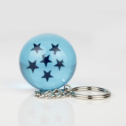 Wholesale Toy Plastic Dragons - New Pattern Dragon Ball Stars Crystal Balls Lovely Blue Figures Toys Garage Kit Key Chain Pendant Multiful Star Novelty Toy 7ds W