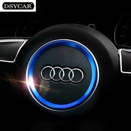 Etiqueta do logotipo da roda on-line-Liga de alumínio de aviação volante Do Carro decoração anel adesivo decalques logo Car styling para audi a3 a4l q3 q5 a5 a6l