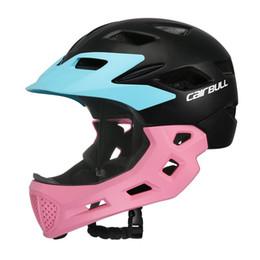 Cascos de seguridad para niños online-CAIRBULL niños cara llena cubierta safty casco bicicleta motocicleta niños patinaje deporte protector de seguridad casco de bicicleta