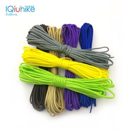 Wholesale Rope Lanyard - Monochrome 5 Meters Dia .4mm 7 Stand Cores Paracord For Survival Parachute Cord Lanyard Camping Survival Equipment Tents Rope