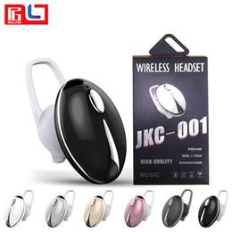 наушники с одним ухом Скидка JKC 001 Bluetooth Wirless Headphone Single Ear V4.1 Спорт в ушной мини-гарнитуре для мобильного телефона IOS Android