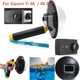 Wholesale Hood Material - 2017 New Accessories Dome Port Waterproof Lens Housing Dome Hood Cover Case for Xiaomi Yi 4K   4K+ Plus Camera Mount