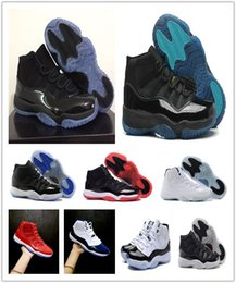 Wholesale Cheap White Lace Shoes - 11 Gym Red Chicago Prom Night Bred Midnight Navy 2018 concords Basketball Shoes 11s Space jams Cheap Sport Athletics Sneakers Free Shippin