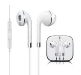 Wholesale i phone ear - Upgrade Apple Phone Earphones headphone headset with Gold ring In-Ear Earphone 3.5mm earbuds with mic for i phone 5 6 samsung S5 S6