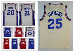 Wholesale Ncaa Orange - NCAA Wholesale 2018 Mens Embroidery fan city 20# Markelle Fultz 21# Joel Embiid Jerseys Basketball Jersey 25 Ben Simmons shirt Free Shipping