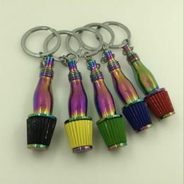 Wholesale Spikes Head - The turbine Car Keychain mushroom head Keychain broth modified intake filter