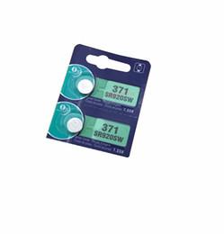 Wholesale Button Battery Silver Oxide - 371 battery 5pcs 371 battery 69 SR920W SR920SW AG6 L921 605 620 280-31 280-51 Cell Button Watch Batteries Silver Oxide retail card