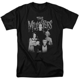 family for kids UK - Munsters Family Portrait T-shirts for Men Women or Kids 100% Cotton T Shirts Brand Clothing Tops Tees