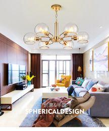 2019 cucine di cottage bianche Cristallo nordico lusso oro soggiorno sala da pranzo lampadario post moderno e minimalista negozio di abbigliamento personalità bar lampadario in vetro