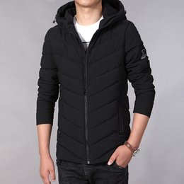 1244a079a95f2 2018 New Men Winter Jacket Fashion Cotton Padded Jacket Hooded Winter Coat  Mens Puffer Big Size M-7XL Veste Hiver Homme