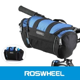 Wholesale Utility Supplies - 2 Colors Roswheel Utility Bicycle Bags 5L Bike Handlebar Bag Bicycle Front Tube Pocket Shoulder Pack Riding Cycling Supplies +B