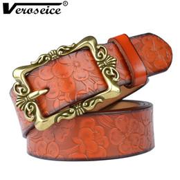 Cintura russa online-[Veroseice] Cintura donna vintage in vera pelle con cinturino in vera pelle di tipo russo per cinturino in pelle da donna