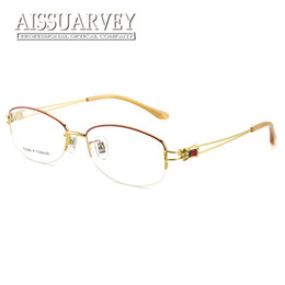 dd13a4b9514 rhinestone eyeglass frames 2019 - Titanium Optical Eyeglasses Frame Brand  Designer Top Quality Eyewear Women Fashion