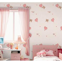 Fondos de pantalla autoadhesivos en forma de corazón Papeles pintados Calcomanías vintage para papel tapiz en la habitación del niño Papel de pared papel de parede 5 metros desde fabricantes