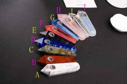Sigarette di tabacco naturale online-Tubo in silicone naturale di qualità al quarzo in cristallo 7 colori scegliere con ciotola in metallo Per tubi in silicone