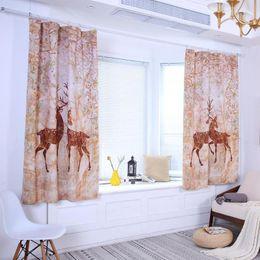 Schwarzes Wohnzimmer Dekor Rabatt Full Light Shading Vorhang Digital Floral  Printed Sonnenblenden Polyester Fenster Vorhänge Für