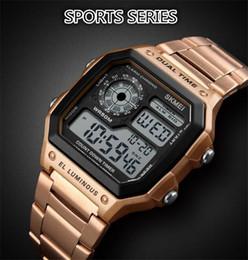 Argentina Venta caliente de alta calidad al aire libre deportes personalidad pantalla digital reloj electrónico reloj de moda hombres de negocios de negocios reloj Suministro