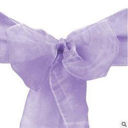 Fajas de encaje de alta calidad del Bowknot para el banquete de bodas Fajas decorativas de la silla de la cinta de seda Decoraciones para la venta desde fabricantes