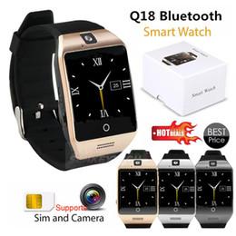 """Q18 Смарт-Часы 1.54 """"изогнутый экран Bluetooth Смарт-часы-телефон Q18 с камерой Tf слот для SIM-карты для Android Samsung iphone от"""