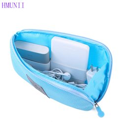 Wholesale finish business - HMUNII Travel nylon Business Digital Storage Package Multifunction Power Data Cable Charger Cosmetic Bags Portable Finishing Bag