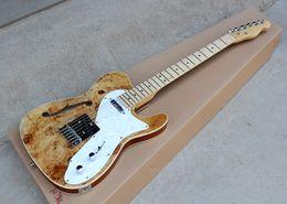Canada Guitare électrique semi-creuse avec le corps original de couleur, placage en bois pourri, liaison blanche et peut être adapté aux besoins du client Offre