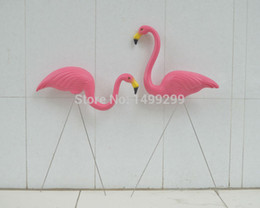 """Wholesale Rose 31 - 1 Pair Plastic Rose Flamingo Garden ,Yard And Lawn Art Ornament Wedding Ceremony Decoration With 31 """"Height"""