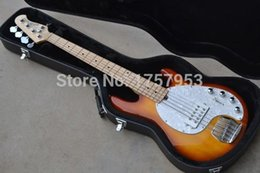 Wholesale Pickups For Bass - Factory custom shop 2015 new 5 strings bass musicman stingRay Sunburst electric bass 9 V Battery active pickups with case (HAI 5