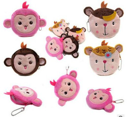 fabricantes de moedas Desconto Venda direta do fabricante dos desenhos animados macaco super macio bolsa de moedas