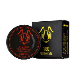 Vape à fil plat en Ligne-NI80 Flat Alien 15FT Fil De Chauffage Premade Wrap Fils Fil De Résistance Bobine Pour Vape Kit De Surprise Authentique