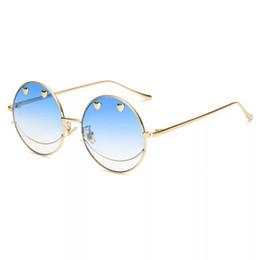 94209b110fda3 óculos de sol china projetado para as mulheres redondos armação de metal  com todo o tipo de cores da moda hip-hop óculos smiley face