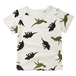 2018 Sommer Jungen T Shirts Kleidung Kurzarm Baumwolle Dinosaurier Cartoon Kinder T Shirts Mädchen 2-8 Y Hohe Qualität Kinder Tees von Fabrikanten