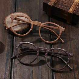 36bbe42a6b Clear Lens Round Retro Wood Grain Color Glasses Myopia Frame PC Decoration  Vintage Optical Glasses Frame For Men and Women