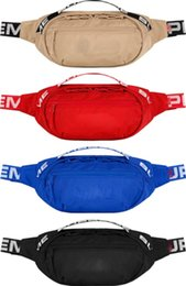 Wholesale fanny waist packs - 18SS Waist Bag 3M 44th Sup Unisex Fanny Pack Fashion Waist Men Canvas Hip-Hop Belt Bag Men Messenger Bags 17AW Small Shoulder Bag 3M New
