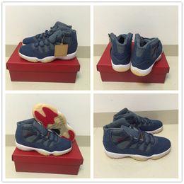 2018 de Alta calidad para Barato Informal 11 XI Denim NRG x Diseñador Blue Jeans Zapatos de Baloncesto Hombres 11s Flight Trainers Sports Sneakers Talla 40-47 desde fabricantes