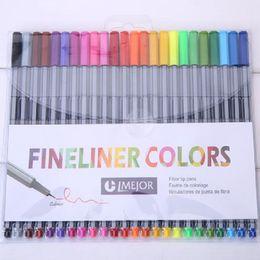 24 couleurs stylos fineliners pastel ensemble Coloring marker stylos arts peinture crayons fibre pointe stylo enfants pour livres à colorier 0.4mm ? partir de fabricateur